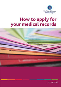 Health Care Records leaflet containing information about your legal rights to obtain a copy of your health records. Advice and support provided by The Prince & Princess of Wales Hospice Glasgow
