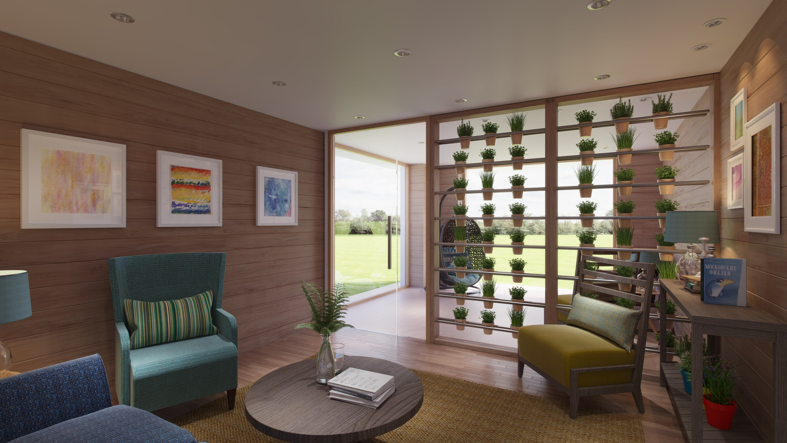 the new garden room at The Prince & Princess of Wales Hospice
