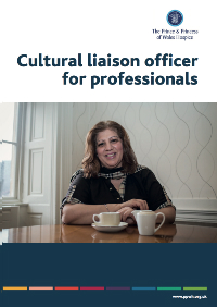 The Prince & Princess of Wales Hospice Cultural Laision Officer leaflet for professionals