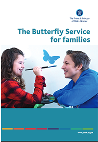 The butterfly service for families information leaflet providing valuable information of the child bereavement service offered by The Prince & Princess of Wales Hospice in Glasgow