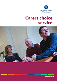 Care information and support leaflet providing vauable information of the services offer by The Prince & Princess of Wales Hospice in Glasgow