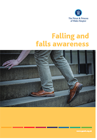 Falling awarness leaflet containing useful information about how to avoid trips and falls around The Prince & Princess of Wales Hospice in Glasgow