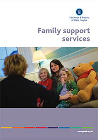 Family support leaflet containing useful information about the how The Prince & Princess of Wales Hospice in Glasgow care for families