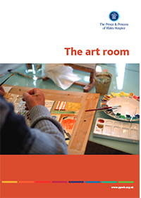 The art room information leaflet providing valuable insight to the creative therapy employed by The Prince & Princess of Wales Hospice to allow patients and families a creative outlet