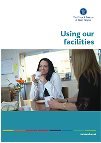 Using our facilities leaflet containing useful information about the various facilities offered by The Prince & Princess of Wales Hospice in Glasgow