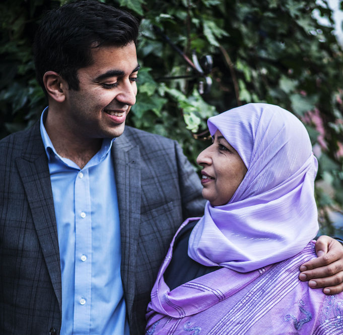 Humza and his mother supporting Glasgow's Hospice