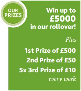 Win up to £5000 in our rollover