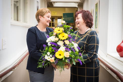 The Prince & Princess of Wales Hospice has said a huge thank you to long-time supporter Glasgow Lord Provost Sadie Docherty