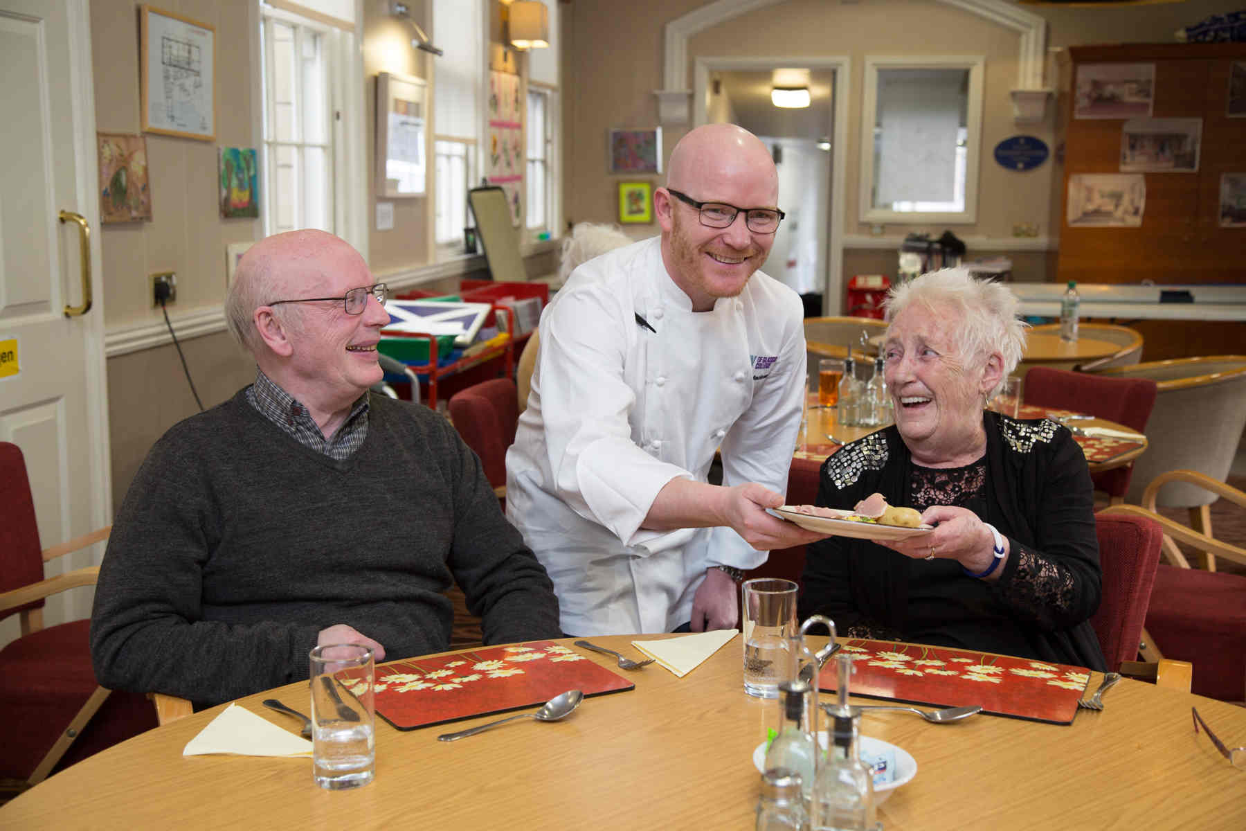 BBC Television's Masterchef: The Professionals winner Gary Maclean took time out from his hectic schedule since recently winning the title to serve lunch to day services patients at The Prince & Princess of Wales Hospice