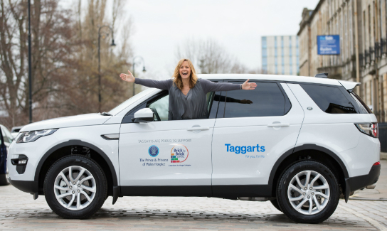 Carol Smillie hits the road in new hospice car
