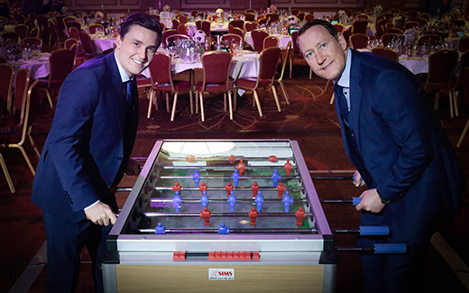 World tennis champion Gordon Reid MBE, former Arsenal player Ray Parlour and a goal-packed table football showdown were among the highlight's of The Prince & Princess of Wales Hospice's Sportsman's Dinner at Glasgow Hilton